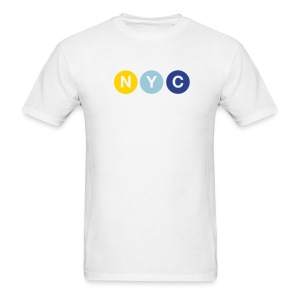 NYC Subway Men's T-Shirt - Men's T-Shirt