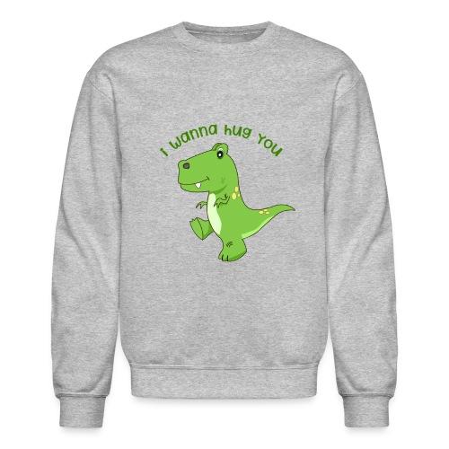 dinosaur hugs - Crewneck Sweatshirt
