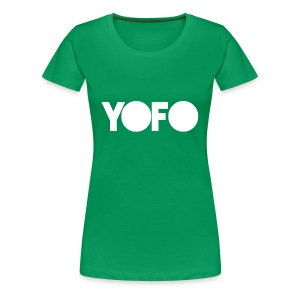 Ladies YOFO Graphic Fitted Tee - Double Sided - Women's Premium T-Shirt