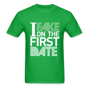 Mens I Fake On The First Date Graphic Tee - Men's T-Shirt