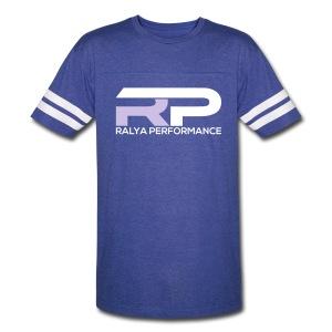 Ralya Performance Vintage Tee- Grey/White Logo - Vintage Sport T-Shirt