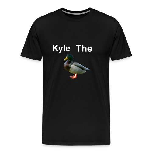 Kyle The Duck Black T-Shirt | Mens - Men's Premium T-Shirt