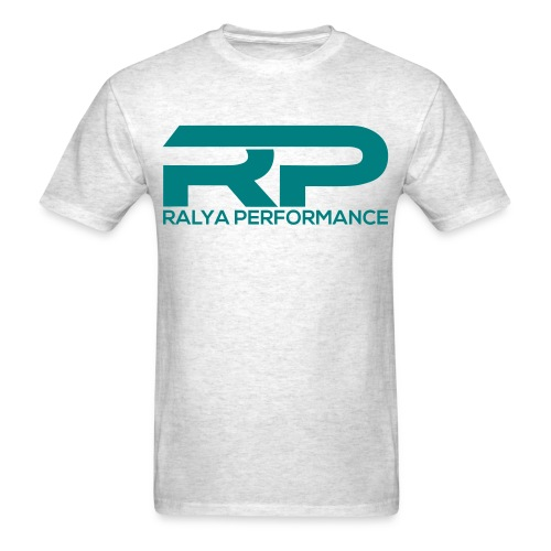 Ralya Performance Tee- Teal Logo  - Men's T-Shirt