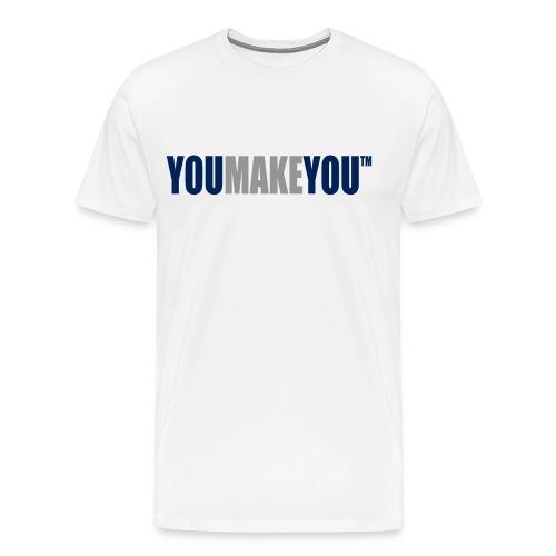 White Basic Shirt - Men's Premium T-Shirt