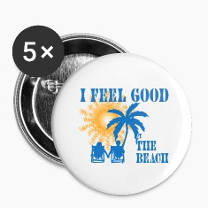 Feel good at the beach Buttons
