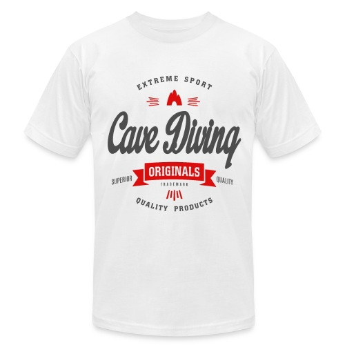 Cave Diving Extreme Sport T-shirt - Men's  Jersey T-Shirt