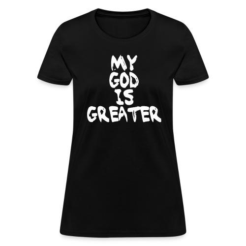 Women's White on Black - Women's T-Shirt