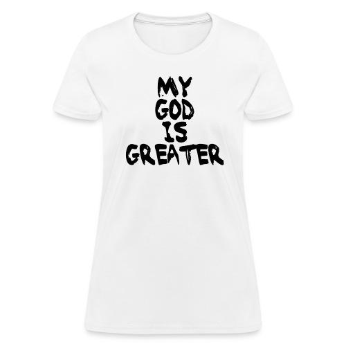 Women's Black on White - Women's T-Shirt