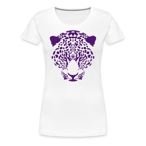 Womens Velvet Purple Leopard Premium Tee - Women's Premium T-Shirt