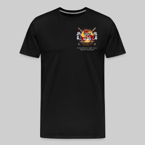 Vikings of Bjornstad/Real Vikings Don't Wear Horns - Black T-Shirt - Men's Premium T-Shirt