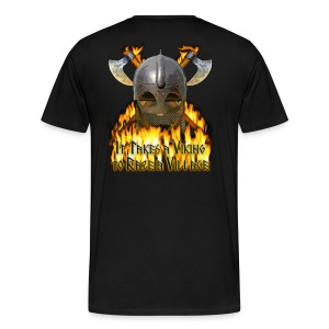 Real Vikings Don't Wear Horns - Black T-Shirt - Men's Premium T-Shirt