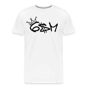 6$M Classic // Center Logo // Black - Men's Premium T-Shirt