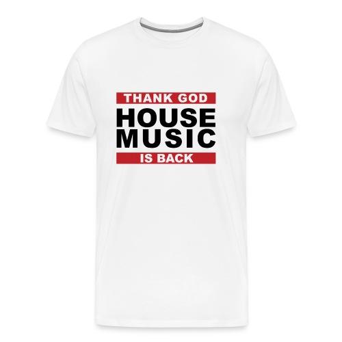 T-Shirt Men White - Men's Premium T-Shirt