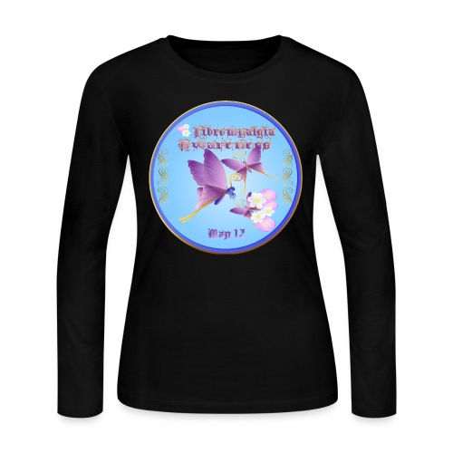 FIBROMYALGIA AWARENESS - Women's Long Sleeve Jersey T-Shirt