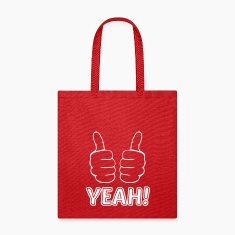 both thumbs up finger hand like yeah cheer triumph Bags & backpacks