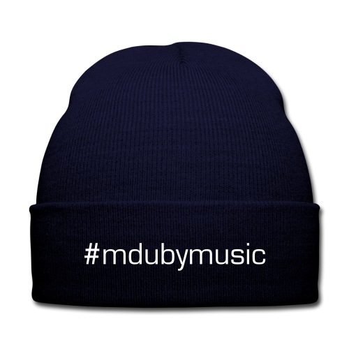 #mdubymusic Knit Cap - Knit Cap with Cuff Print