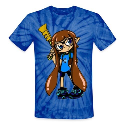 Tie Dye Clashex Splatoon T-Shirt - Unisex Tie Dye T-Shirt