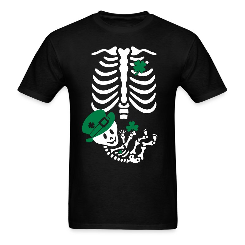 St. Patrick's Skelly Baby / non maternity - Men's T-Shirt