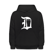 Sweatshirts ~ Kids' Hoodie ~ Old English D Pint