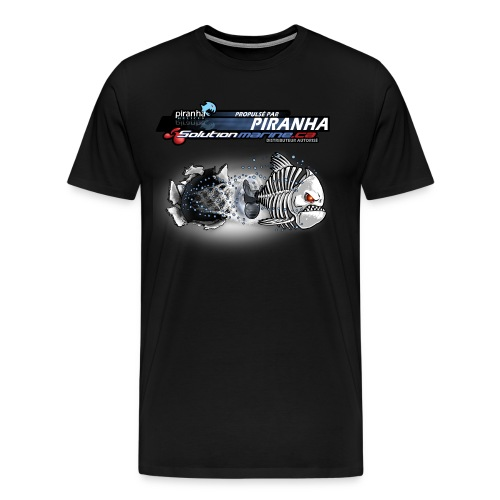 T-SHIRT NOIR HOMME ZOMBIE PIRANHA - Men's Premium T-Shirt