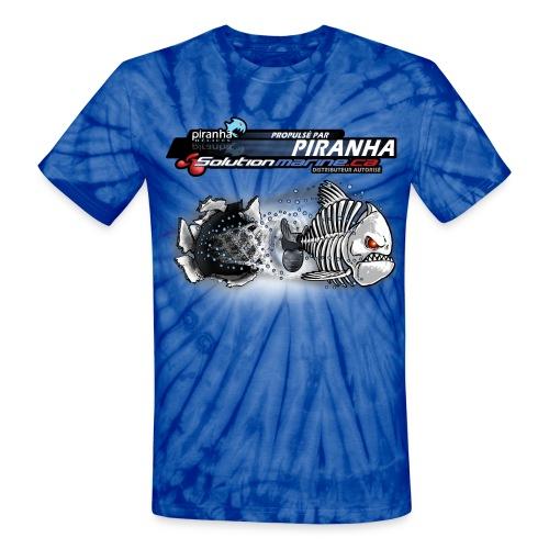 T-SHIRT UNI-SEX  ZOMBIE PIRANHA NEW AGE - Unisex Tie Dye T-Shirt