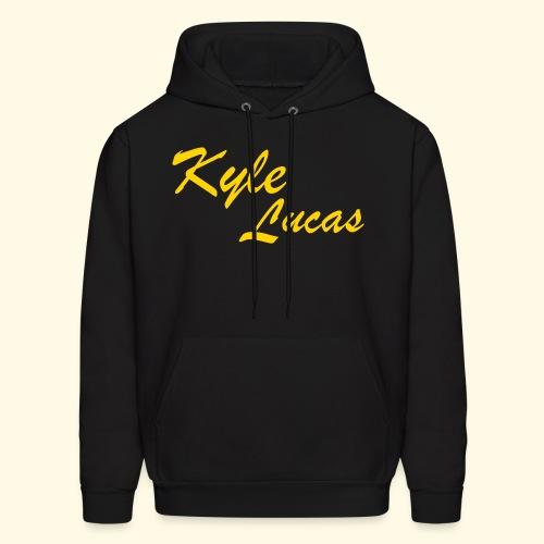 Kyle Lucas text Logo - Hoodie (velvet) - Men's Hoodie