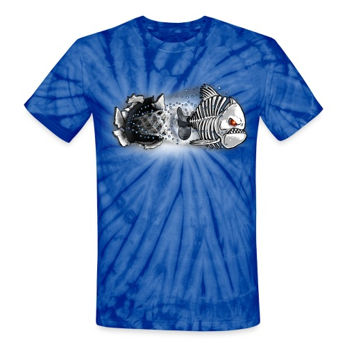 T-SHIRT UNI-SEX  NEW-AGE - Unisex Tie Dye T-Shirt