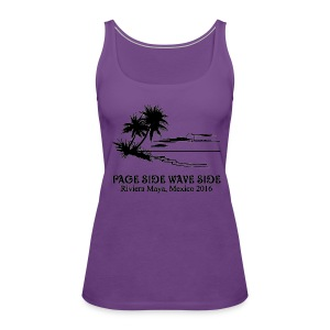 Womens Premium Tank Top Page side wave side - Women's Premium Tank Top