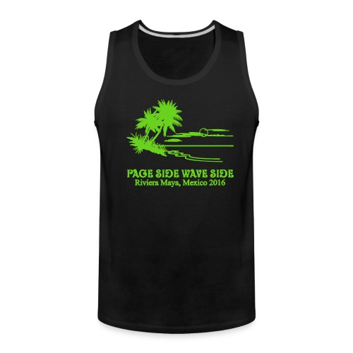 Mens premium page side wave side tank - Men's Premium Tank