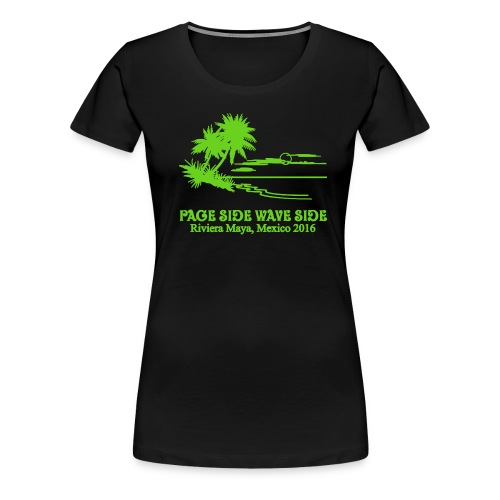 Womens slim fit page side wave side tank - Women's Premium T-Shirt