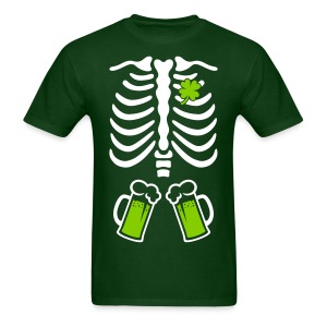 St. Patrick's Ribcage with Green Beer - Men's T-Shirt