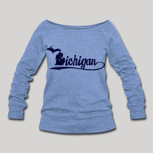 Script Michigan - Women's Wideneck Sweatshirt
