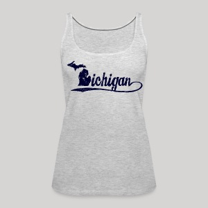 Script Michigan - Women's Premium Tank Top