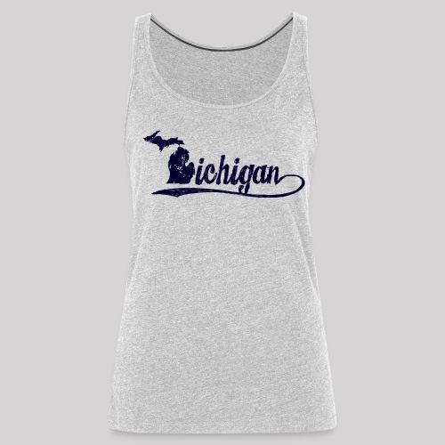 Script Michigan - Women's Premium Tank Top