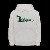 Sweatshirts ~ Kids' Hoodie ~ Script Michigan