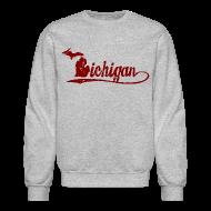 Long Sleeve Shirts ~ Crewneck Sweatshirt ~ Script Michigan