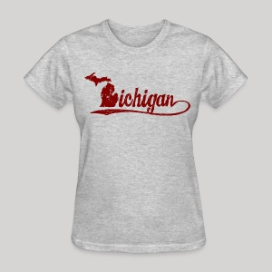 Script Michigan - Women's T-Shirt