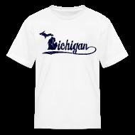 Kids' Shirts ~ Kids' T-Shirt ~ Script Michigan