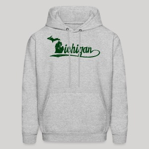 Script Michigan - Men's Hoodie