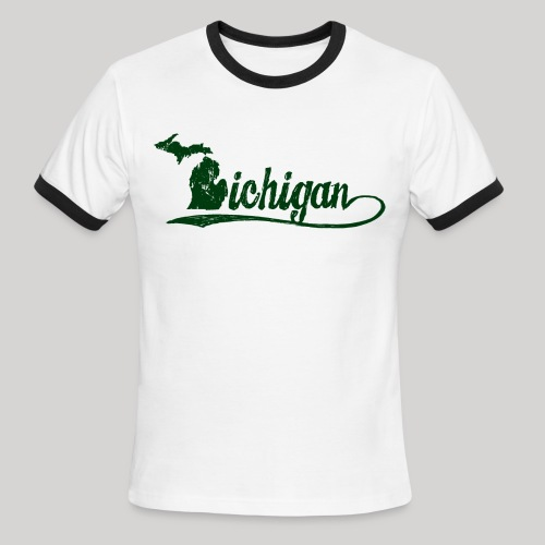 Script Michigan - Men's Ringer T-Shirt