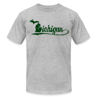 T-Shirts ~ Men's T-Shirt by American Apparel ~ Script Michigan