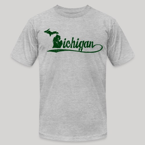 Script Michigan - Men's Fine Jersey T-Shirt