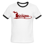 T-Shirts ~ Men's Ringer T-Shirt ~ Script Michigan
