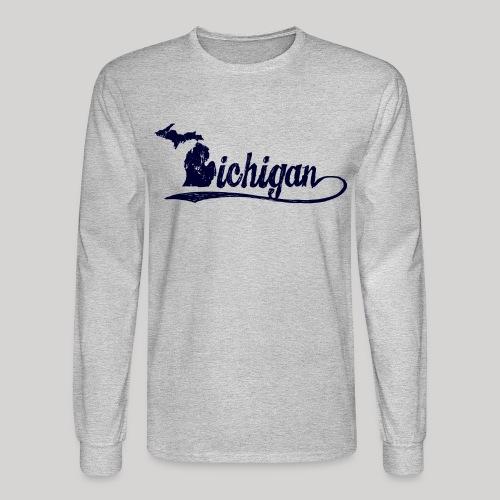 Script Michigan - Men's Long Sleeve T-Shirt
