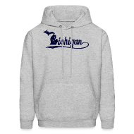 Hoodies ~ Men's Hoodie ~ Script Michigan