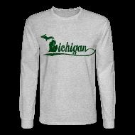 Long Sleeve Shirts ~ Men's Long Sleeve T-Shirt ~ Script Michigan