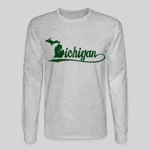 Script Michigan - Men's Long Sleeve T-Shirt