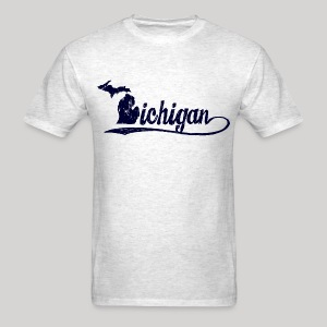 Script Michigan - Men's T-Shirt