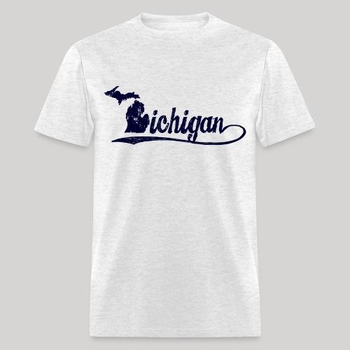 Script Michigan - Men's T-Shirt