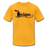 T-Shirts ~ Men's T-Shirt by American Apparel ~ Script Michigan